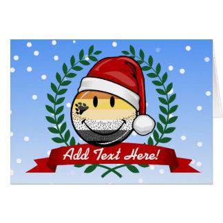 Smiling Holiday Gay Bear Pride Flag Greeting Card