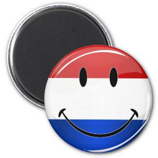 Smiling Holland Netherlands Flag 6 Cm Round Magnet