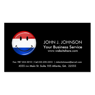 Smiling Holland Netherlands Flag Double-Sided Standard Business Cards (Pack Of 100)