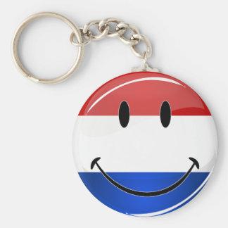 Smiling Holland Netherlands Flag Key Ring