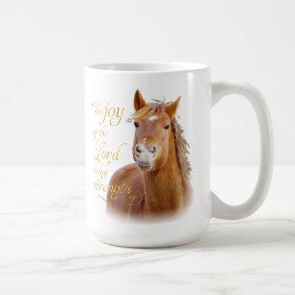 Smiling Horse Bible Verse Mug