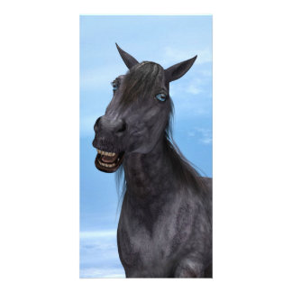 Smiling Horse Photo Card Template