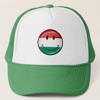 Smiling Hungarian Flag Trucker Hat