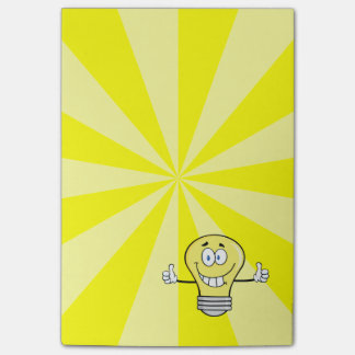 Smiling Incandescent Light Bulb Post-it Notes