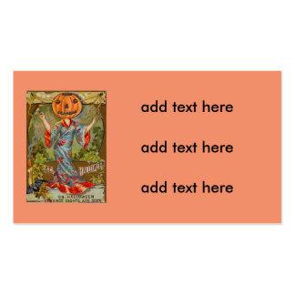 Smiling Jack O' Lantern Pumpkin Bat Pack Of Standard Business Cards