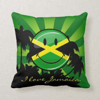 Smiling Jamaica Throw Pillow with your Custom Text Cushion