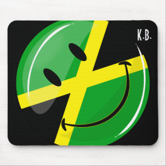 Smiling Jamaican Flag Mouse Mat
