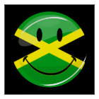 Smiling Jamaican Flag Poster
