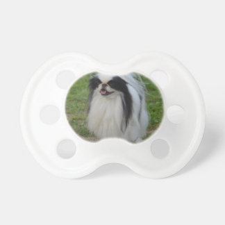 Smiling Japanese Chin Pacifiers