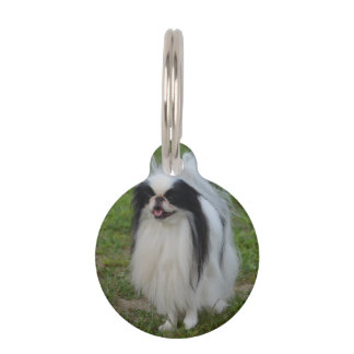 Smiling Japanese Chin Pet Tags