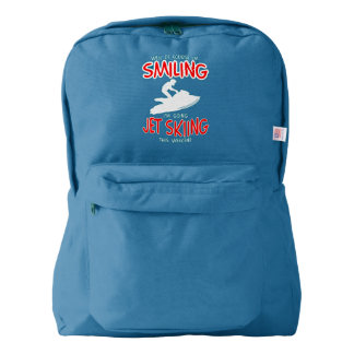SMILING JET SKIING W/END (wht) Backpack