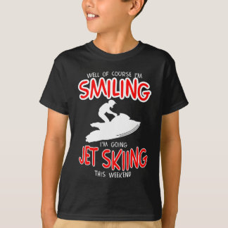 SMILING JET SKIING W/END (wht) T-Shirt