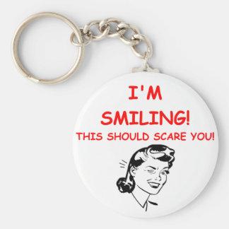 smiling keychain