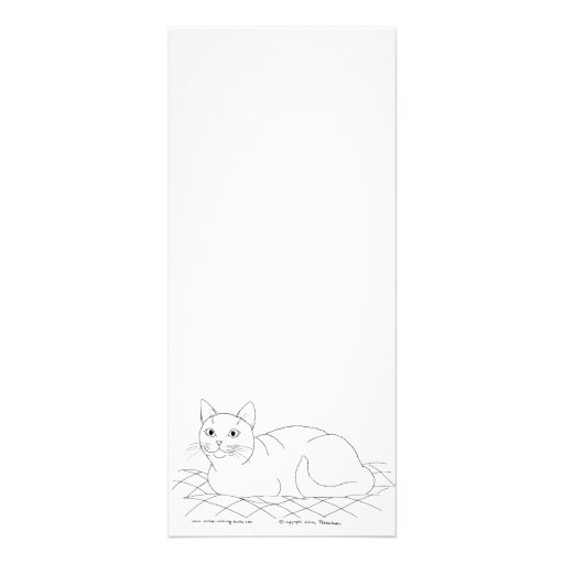 Smiling Kitty Customized Rack Card