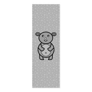 Smiling Koala on paw pattern Business Cards