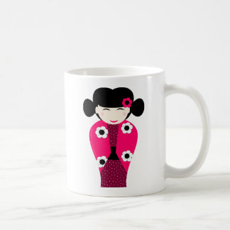 Smiling Kokeshi headstock personnalisable Coffee Mug
