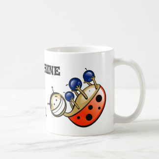 Smiling ladybird coffee mug