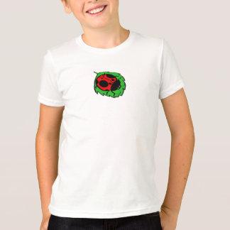 Smiling Ladybug on Green Leaf Mini - T-Shirt