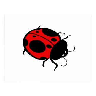 Smiling Ladybug  - Postcard