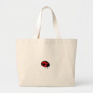 Smiling Ladybug  Red Mini - Canvas Bag