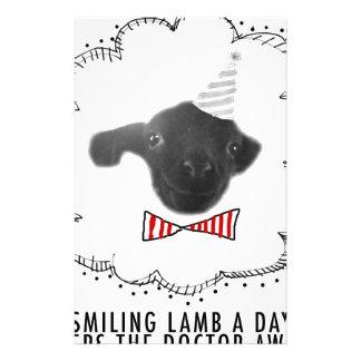 Smiling Lamb Custom Stationery