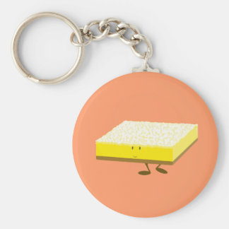 Smiling lemon bar character keychains