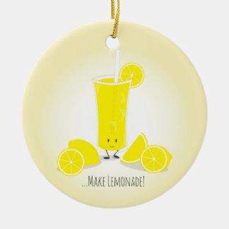 Smiling Lemonade Glass | Ornament