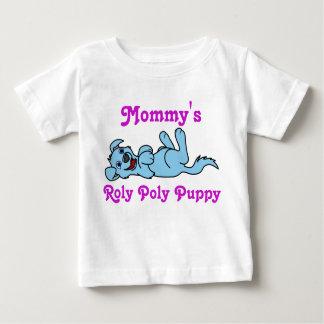 Smiling Light Blue Puppy Dog Roll Over Shirt