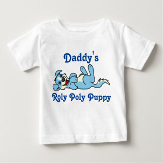 Smiling Light Blue Puppy Dog with Blaze Roll Over T-shirts