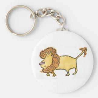 Smiling Lion Basic Round Button Key Ring
