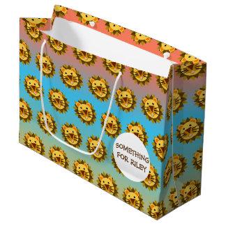 Smiling Lion Face Large Gift Bag