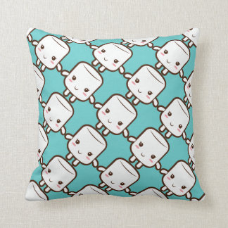 Smiling marshmallow cushion