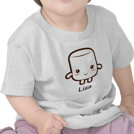 Smiling marshmallow t-shirts