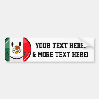 Smiling Mexican Flag Bumper Sticker
