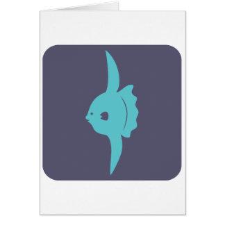 Smiling Mola Fish Icon Greeting Card