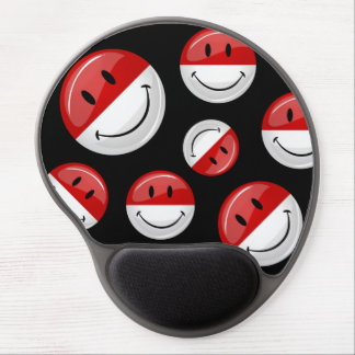 Smiling Monaco Flag Gel Mouse Pad