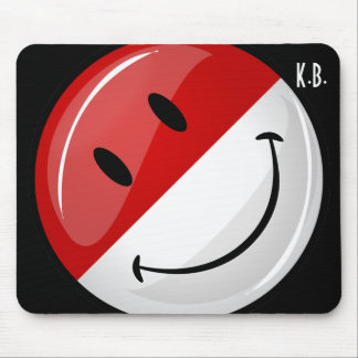 Smiling Monaco Flag Mouse Pad