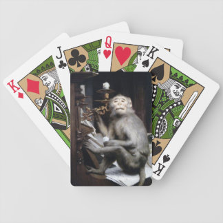 Smiling Monkey Bicycle Playing Cards