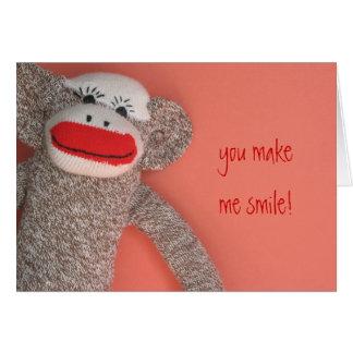 Smiling Monkey Greeting Card