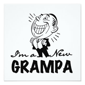 Smiling New Grampa T-shirts and Gifts Announcements