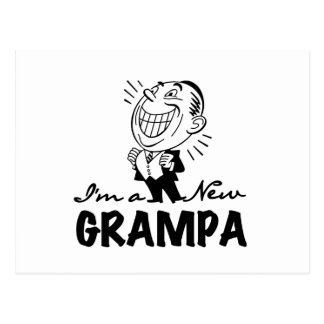 Smiling New Grampa T-shirts and Gifts Postcard