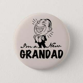 Smiling New Grandad T-shirts and Gifts 6 Cm Round Badge