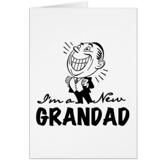 Smiling New Grandad T-shirts and Gifts Card