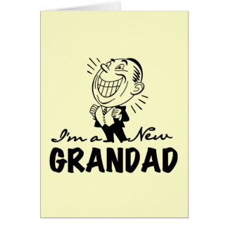Smiling New Grandad T-shirts and Gifts Note Card