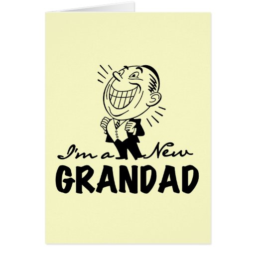 Smiling New Grandad T-shirts and Gifts Greeting Cards