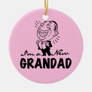 Smiling New Grandad T-shirts and Gifts Christmas Ornament