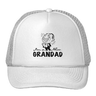 Smiling New Grandad T-shirts and Gifts Mesh Hat