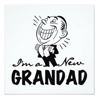 Smiling New Grandad T-shirts and Gifts Personalized Announcement