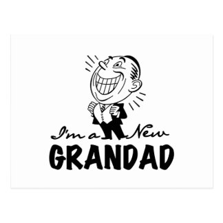 Smiling New Grandad T-shirts and Gifts Postcard