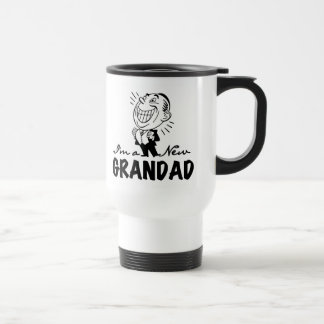 Smiling New Grandad T-shirts and Gifts Travel Mug